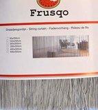 Frusqo draadjesgordijn lichtgrijs 90x200cm_