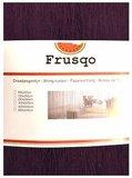 Frusqo draadjesgordijn aubergine 100x250cm_