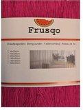 Frusqo draadjesgordijn fuchsia roze 90x200cm_