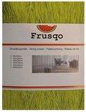 Frusqo draadjesgordijn olijfgroen 100x250cm_