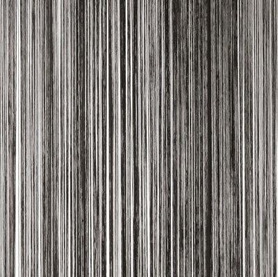 Frusqo draadjesgordijn zwart 100x250cm