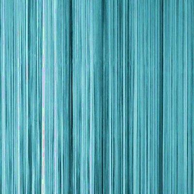 Frusqo draadjesgordijn turqoise 100x250cm