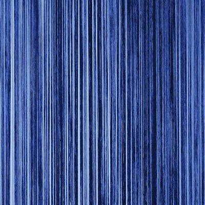 Frusqo draadjesgordijn blauw 100x250cm