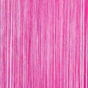 Frusqo draadjesgordijn fuchsia roze 90x200cm